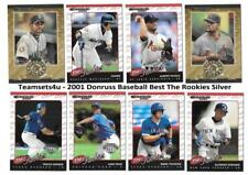 2001 Donruss The Rookies Silver Baseball Set ** Pick Your Team **