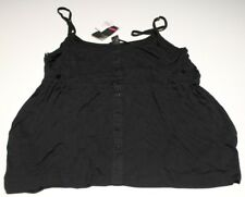 NEW BILLABONG BLACK BUTTON SINGLET ORACLE TOP SIZE 14 RRP $49.99