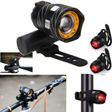 Waterproof LED Front Rear Bicycle Bike Rechargeable Head Light Torch Headlight