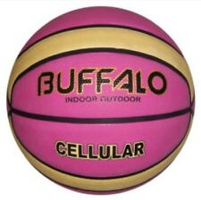 BUFFALO SPORTS CELLULAR RUBBER BASKETBALL - PINK / CREAM - SIZE 5 / 6 / 7 SQSP