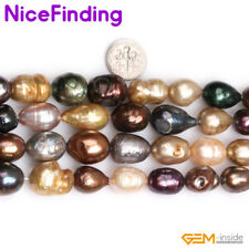 """Natural Freeform Multi-Color Freshwater Cultured Pearl Beads Jewelry Making 15"""""""