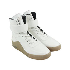 Radii Apex Mens White Leather High Top Lace Up Sneakers Shoes