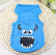 HOT!Small Pet Dog Clothes Fashion Costume Vest Puppy Cat T-Shirt Summer Apparel.