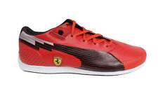 Puma evoSPEED Low SF Ferrari Lace Up Red Leather Mens Trainers