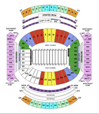Two (2) Alabama vs. Texas A&M Football Tickets - Section H, Row 9