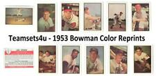1953 Bowman Color Reprints Baseball Set ** Pick Your Team **