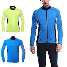 Mens Breathable Cycling Jersey Clothing Sports Long Sleeve Bicycle Tops Q0079