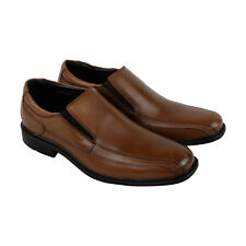 Kenneth Cole Slip On Shoes Mens Brown Leather Casual Dress Loafers Shoes