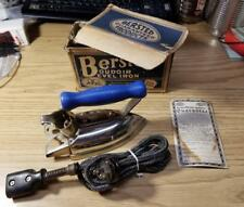 Vintage 1940's Bersted Boudoir Bevel Iron #90 W/Orig Box, Cord & Warranty! (A1)