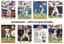 1993 Humpty Dumpty Baseball Set ** Pick Your Team **