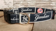NY Yankees Dog Collar, buckle, Martingale w/ leash set option New York Yankees