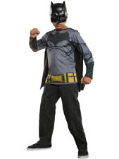 Child's Batman V Superman Dawn Of Justice Shirt Top With Mask Costume