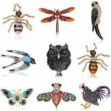 New Crystal Animal Dragonfly Butterfly Bird Brooch Pin Charm Women Jewelry Gifts