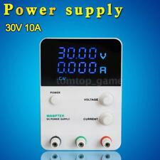10A 30V DC Power Supply Adjustable Digital Variable Precision 4 Digits Lab Q3E0