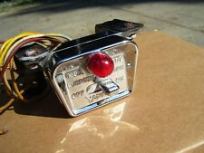 Vintage Yankee chrome Hazard warning flasher switch light lamp kit gm vw chevy  (Fits: 1961 Ford Starliner)