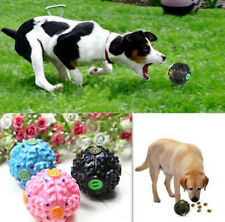 Chew Hot New Giggle Ball Tough Sound Treat Trainning Pet Dog Toy Food Dispenser