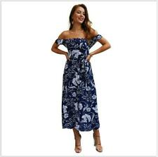 Cocktail Evening Beach Party Floral Sundress Summer Women's Long Maxi Dress
