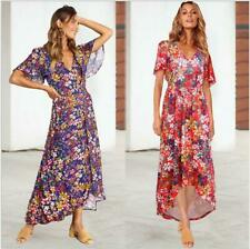 Dress Sundress Boho Maxi Beach Women Evening Cocktail Floral Party Long