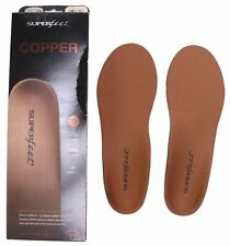 NEW Superfeet COPPER Insoles - Arch Support Orthotic Shoe Inserts Size C D G