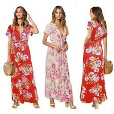 Dresses Beach Party Long Boho Maxi Dress Sundress Women Evening Floral Summer