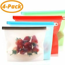 Food Bag Silicone Reusable Bags Foods Preservation Storage Fresh Seal Container