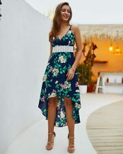 Sundress party beach maxi dress boho ball gown floral summer long Women cocktail