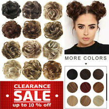 Curly Messy Bun Hair Piece 100% Natural As Human Scrunchie Updo Hair Ties Wigs