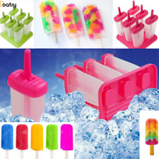 Ice Pop Maker Popsicle Mold Set with Tray and Drip Guard- Green - Pink Pack of 6