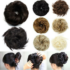 LARGE Bun Hair Extensions Curly Messy Scrunchy Scrunchies Updo As Human Hair US