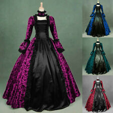 Women Medieval Gothic Retro Dress Victorian Cosplay Steampunk Ball Gown Dresses
