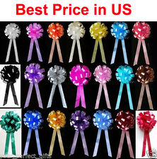 "10  8"" WEDDING PULL PEW BOWS BRIDAL SHOWER DECORATION"