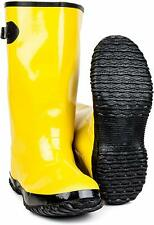 New! Yellow Rubber Over Shoe Yellow Slush Boots 17 Inch