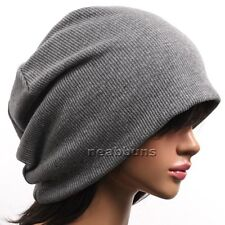 UNISEX Chic Baggy Oversized BEANIE slouchy Cap Hat SIMM