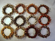 """PIP Berry 4"""" Candle Ring / Wreath - Color Variations"""