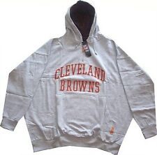 Cleveland Browns NFL 1/4 Zip Mens Gray Pullover Hoodie Size 2XT