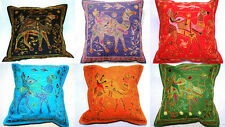 Embroidered Indian cushion covers - ethnic camel design
