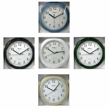 "Advance / Elgin 8"" Round Wall Clock Battery Operated Your Choice of Color NEW"