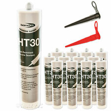 12 x HT30 High Temperature Heat Resistant Silicone Sealant Oven Glass Ceramic