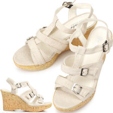New Stylish Womens Shoes Wedge Heel Sandals Beige