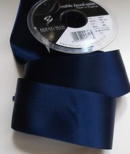 Double Faced Satin Ribbon Berisfords Navy Blue Colour 13