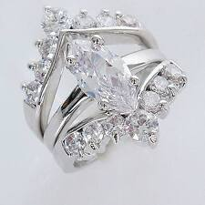 """18KT GP """" 3 in 1"""" Clear CZ Ring ML0628 Free Shipping"""