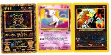 lot 3 Cartes PROMO POKEMON MEW + ANCIENT + ENTEI HOLO