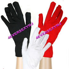 Sexy NEW Satin Wrist Length Gloves 3 COLORS