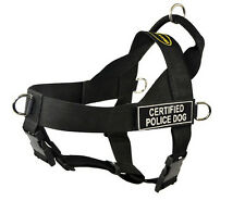 No Pull Harness with Patches CERTIFIED POLICE DOG