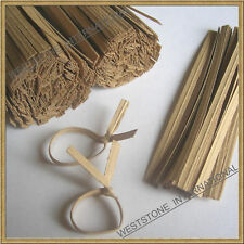 """4"""" Paper Kraft Twist Ties for Bakery Candy Cello Bags"""