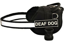 DT Working Harness w/ Patches DEAF DOG