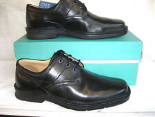 CLARKS MENS BLACK LEATHER LACE UP SHOES-SALUTE PASS
