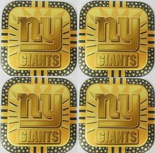 4 NEW YORK GIANTS NFL GOLD METAL DRINK COASTERS