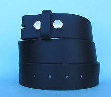 Snap on Real Leather Belt Black Made in England