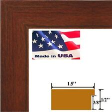 """Custom 1.5"""" Cherry Maroon Solid Picture Picture Poster frame-Wall Decor Frames"""
